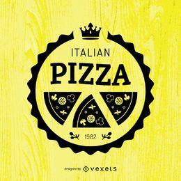 Emblema redondo de la pizza