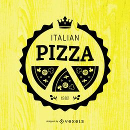 Runde Pizza-Emblem