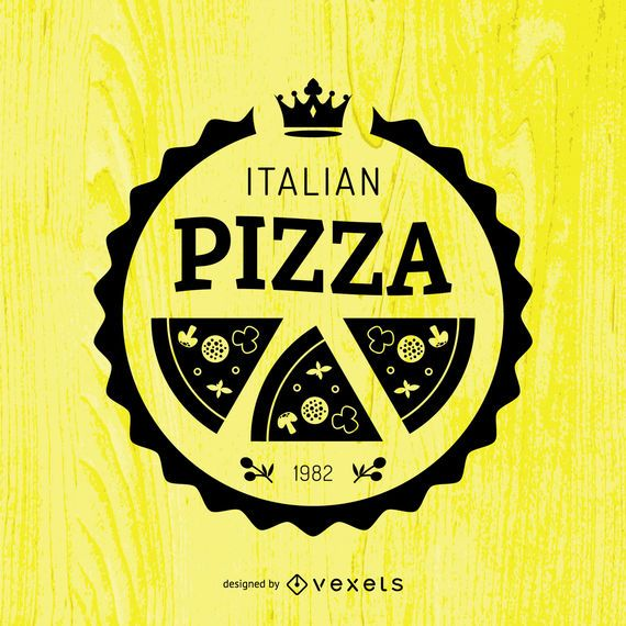 Emblema de pizza redonda
