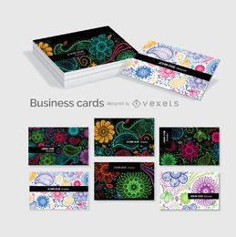 Floral modelo cartões de visita