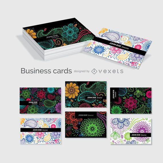 Modelo de cartões de visita florais