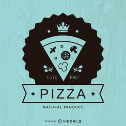 Hipster pizza logo