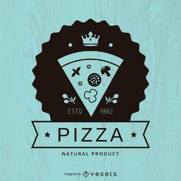 Logo de pizza de hipster