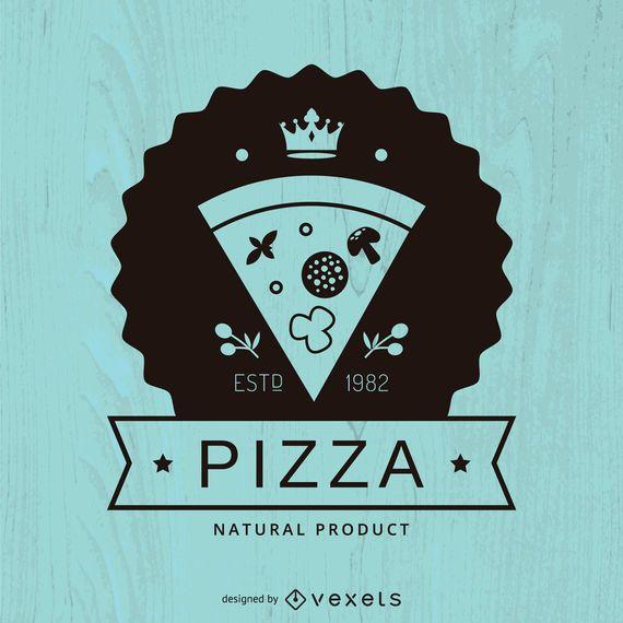 Hipster pizza logo