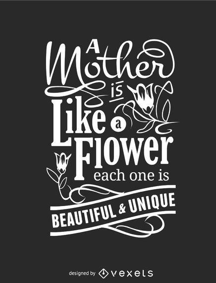 Cartaz tipográfico do dia das mães