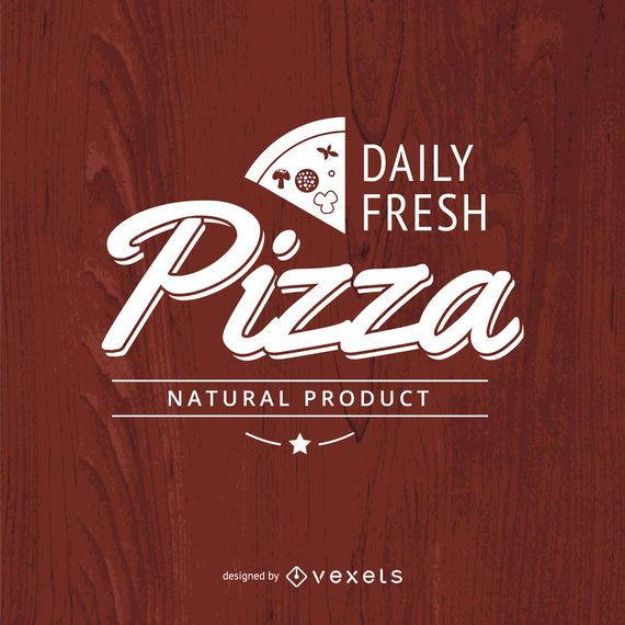 Vintage typographic pizza logo