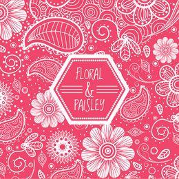 Fondo floral rosa remolino