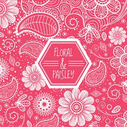 Pink floral swirl background