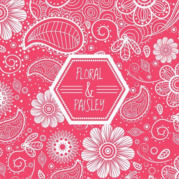 Pink floral swirl background