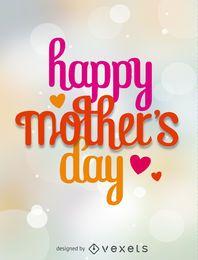 vector dia de mãe feliz