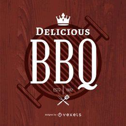 Logotipo delicioso para churrasco