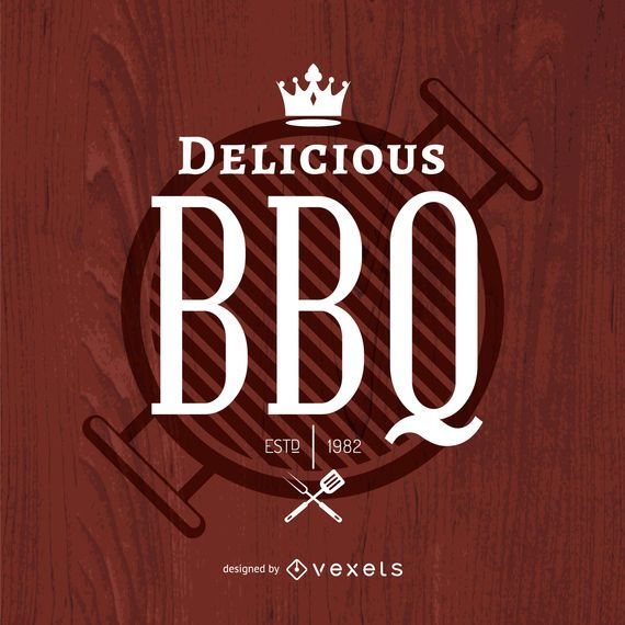Logo de barbacoa deliciosa