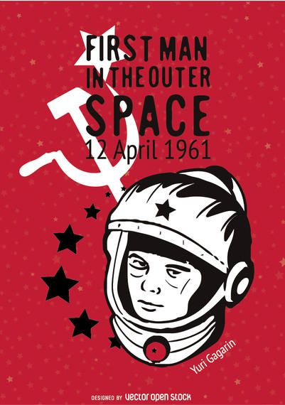 Cartel conmemorativo de Yuri Gagarin