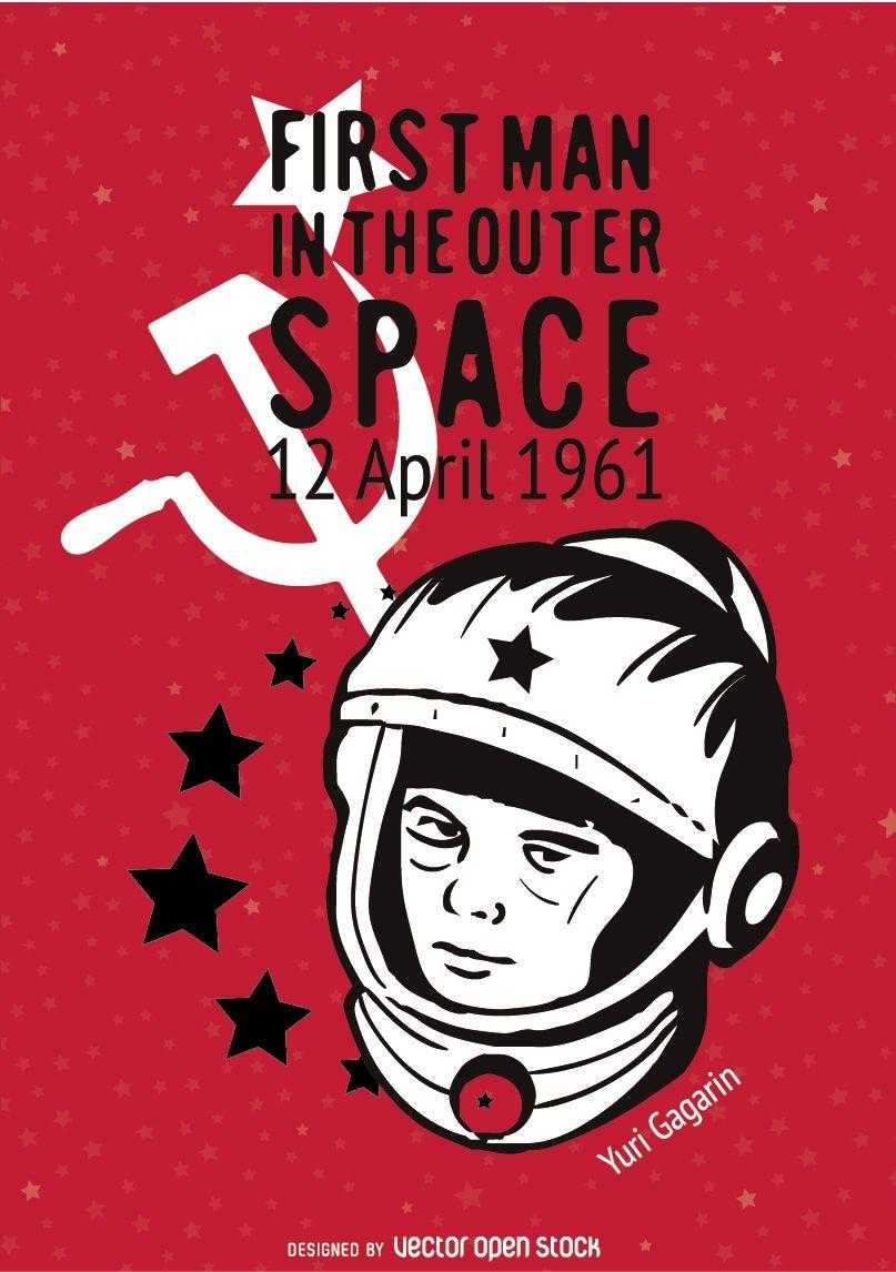 Póster conmemorativo de Yuri Gagarin