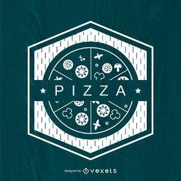Logo de pizza poligonal
