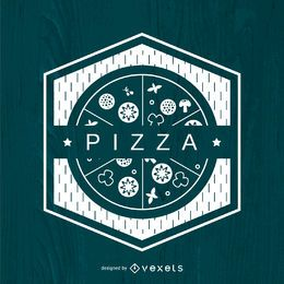 Logotipo de pizza poligonal