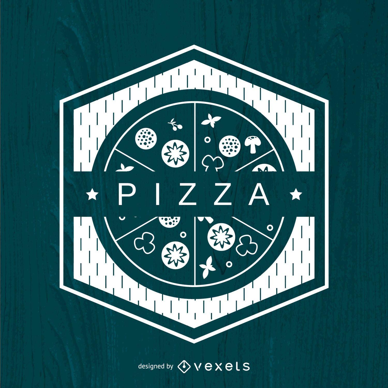 Polygonal pizza logo