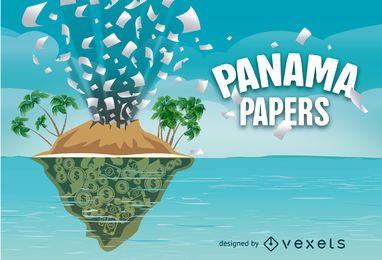 Documentos de Panamá diseño del vector