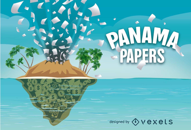 Diseño vectorial de papeles de Panamá