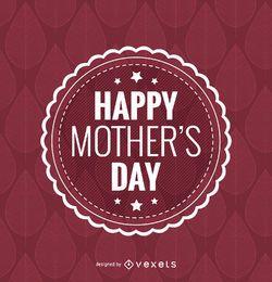 Emblema feliz do dia de mãe