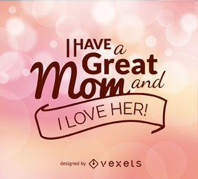 Vetor de citação de dia das mães