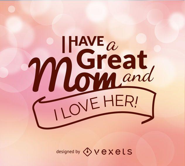 Muttertag Zitat Vektor