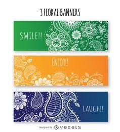 Conjunto de banner floral