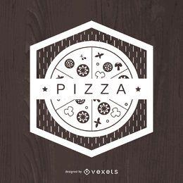 Emblema de pizza geométrica