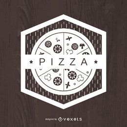 Geometric pizza emblem