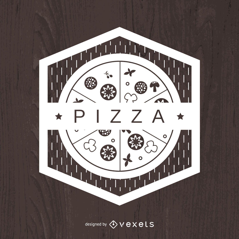 Geometric pizza emblem