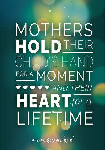 Cartaz do dia das mães com citação