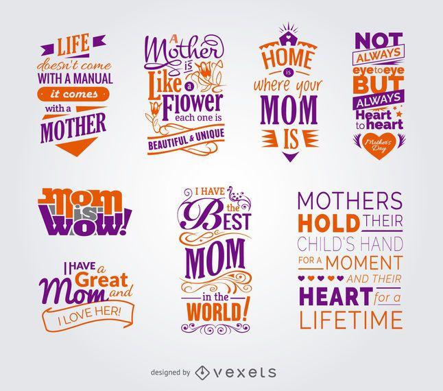 Colección de citas del día de la madre.