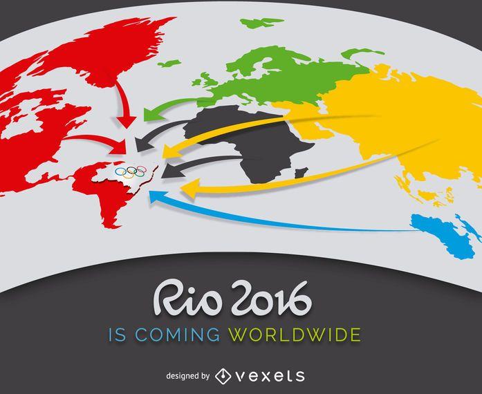 Cartaz publicitário Rio 2016