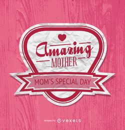 Mother's Day badge in pink