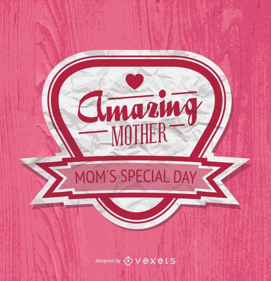 Insignia del día de la madre en rosa