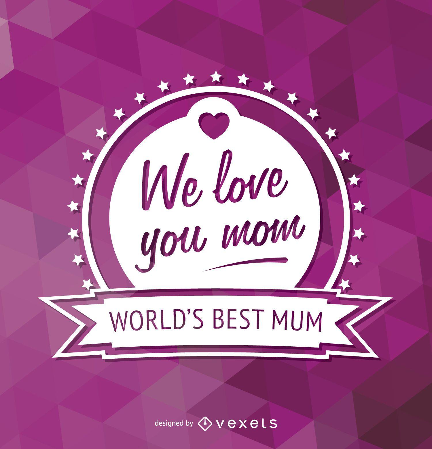 El mejor emblema de mamá del mundo