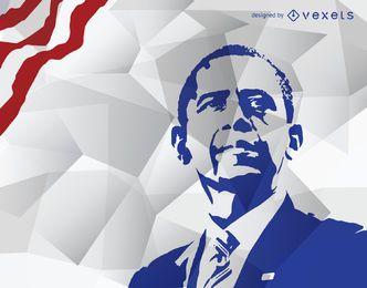 Obama's stencil in blue