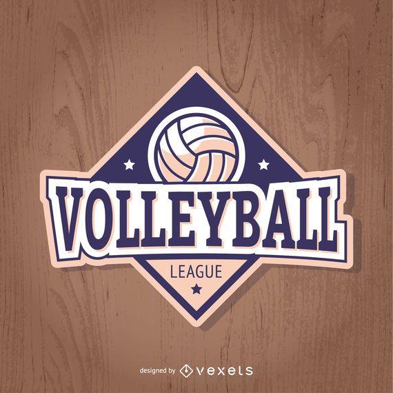 Volleyball-Abzeichen in Lila und Hellrosa