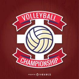 Vector de campeonato de voleibol rojo