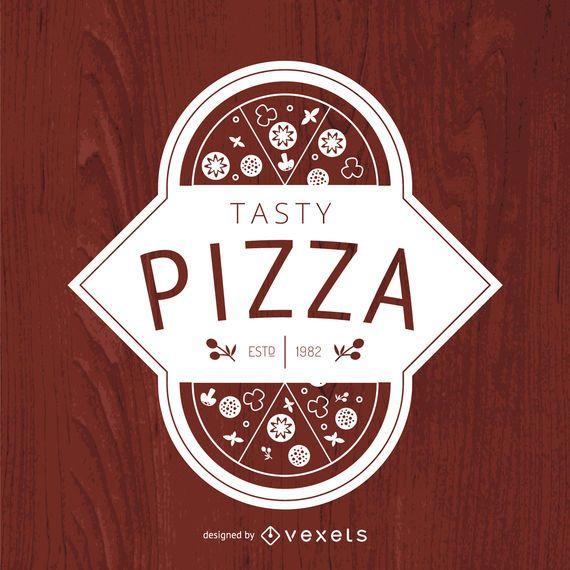 Modelo de pizza retrô