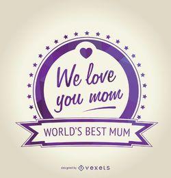 insignia púrpura Día de la Madre