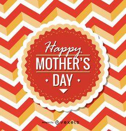 emblema Circular dia de mãe feliz
