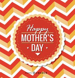 Emblema circular feliz día de la madre