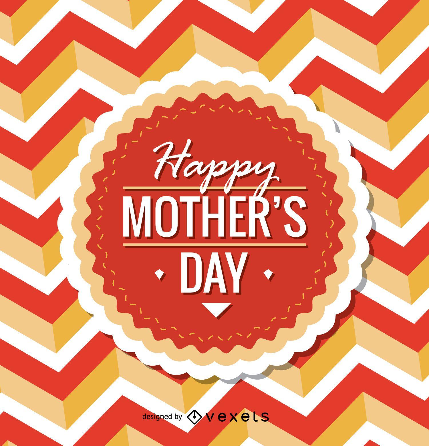 Circular Happy Mother's Day emblem