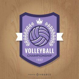 Distintivo de campeonato de voleibol roxo