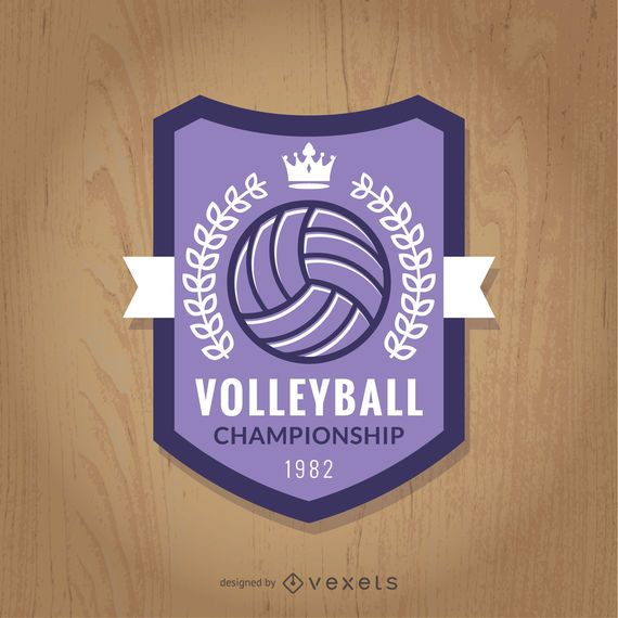 Purple volleyball championship badge