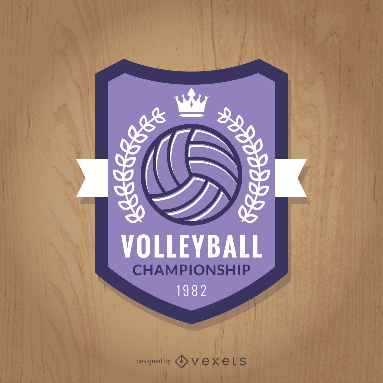 Insignia del campeonato de voleibol p?rpura