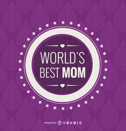Melhor emblema de mãe do mundo do círculo