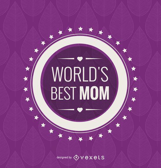 Circle world's best mom emblem