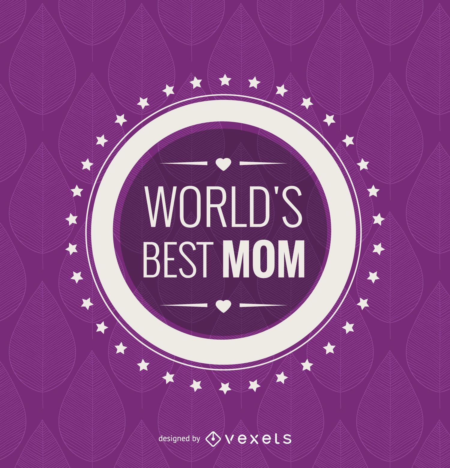 Emblema de la mejor mamá del mundo del círculo